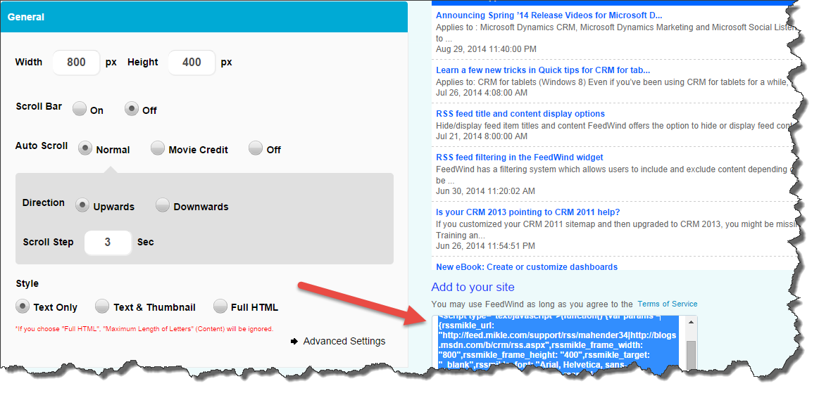 how to create rss feed for blog